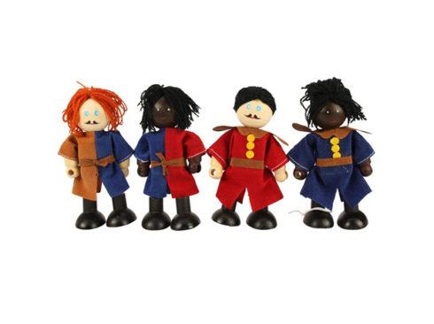 set famiglia reale per castelli fiabeschi delle bambole,royal family set for fairytale castles dolls,bigjigs toys