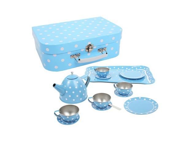 colorful picnic service for children , dolce picnic in giardino, servizio da tè, bigjigs toys