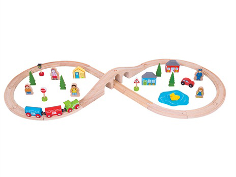 pista in legno per i treni, ferrovia di legno, idea regalo per gli amanti dei treni,binari compatibili, bigjigs,Wooden track for trains, wooden railroad, gift idea for trainers, compatible tracks, bigjigs, giocattoli in legno