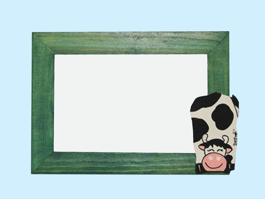 portafoto mucca