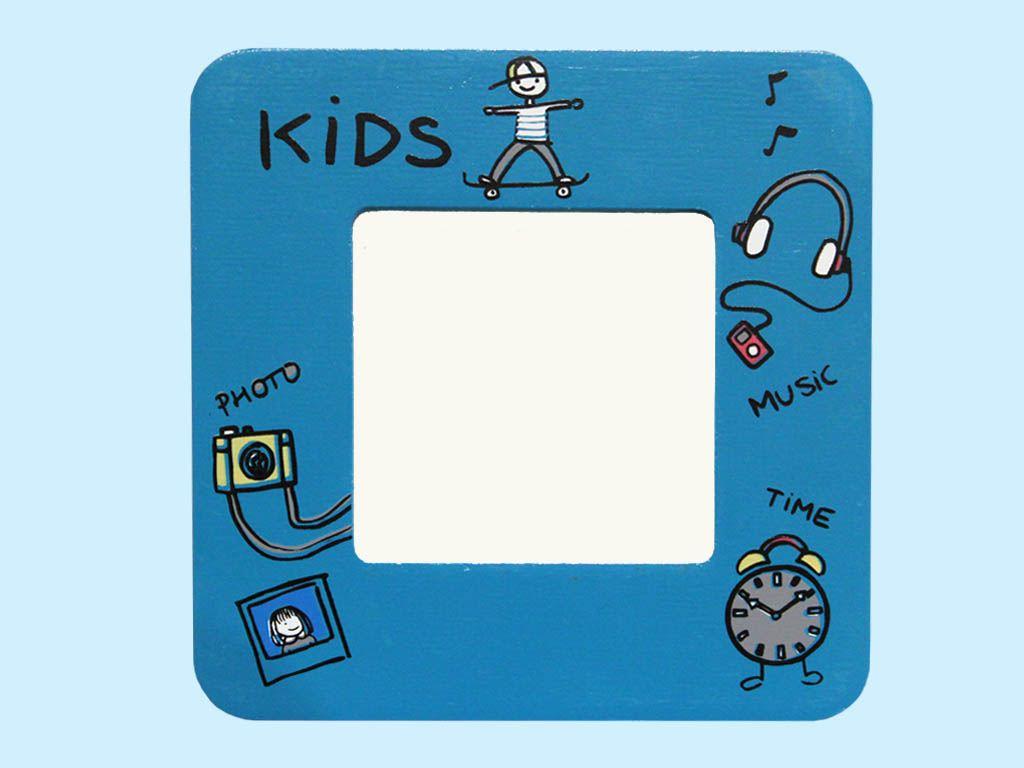 portafoto kids blu