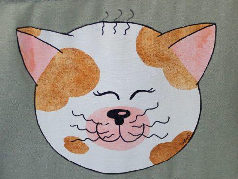 porta oggetti in tessuto gattino