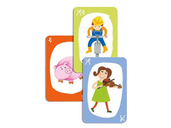 gioco di carte, gioco di mimo, dj05152