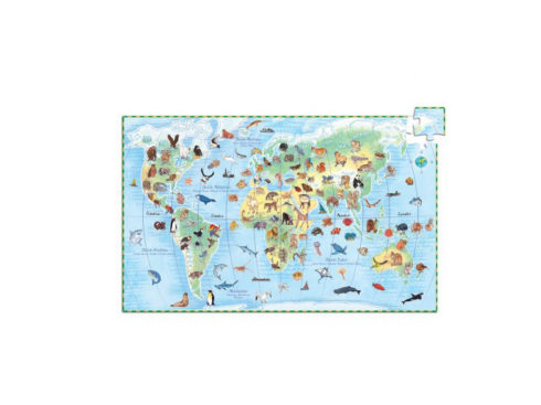puzzle educativo , aniamli , dj07420