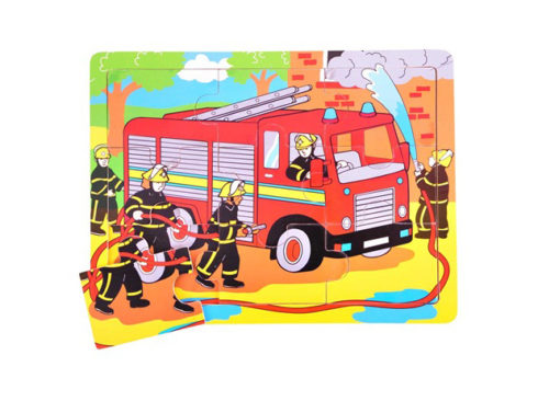 puzzle in legno per bambini piccoli, pompieri, vigili del fuoco,gioco per la concentrazione e l'osservazione , bigjigs toys,wooden puzzles for children, firemen, fire, play with concentration and observation, bigjigs toys