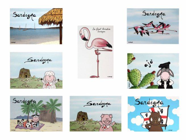 cartoline postali ,souvenir della sardegna, creazioni dettagli cagliari,postcards, souvenirs of Sardinia, Cagliari details creations,