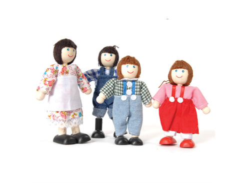 set famiglia per case delle bambole,family set for doll houses