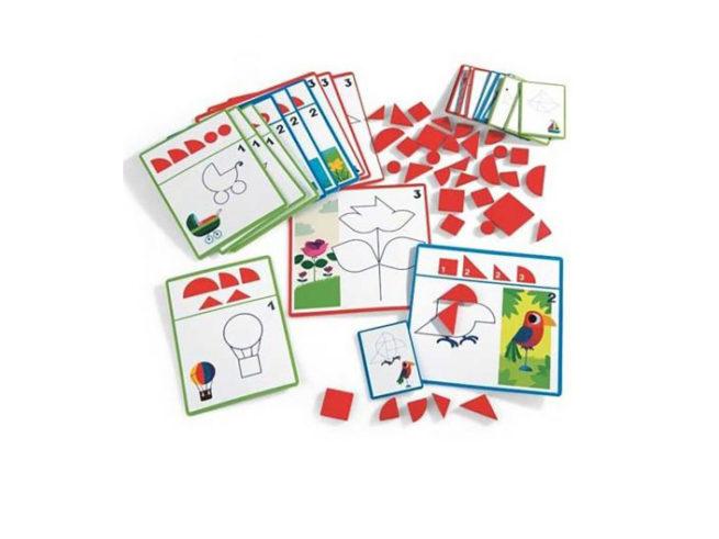gioco tangram, rompicapo geometrico, concezione spaziale, dj08300