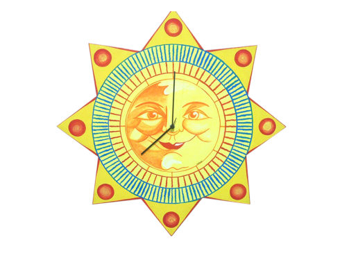 orologio artigianale sole, meridiana , stella,oggettistica con sole, disegno sole, creazioni dettagli cagliari,clock handicraft sun, sundial, star, objects with sun, sun design, creation details cagliari