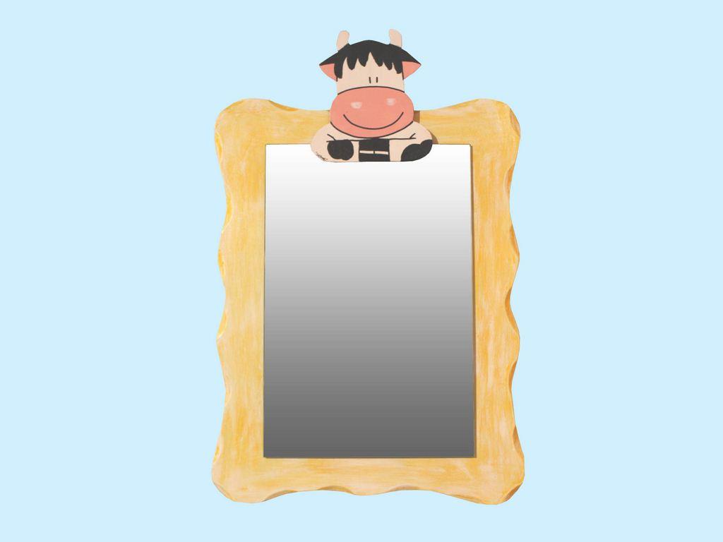 specchio sagomato mucca