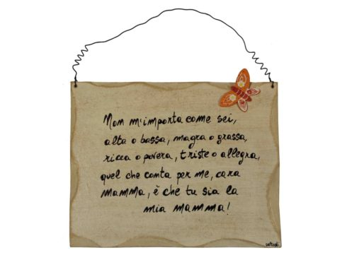 gift for mom, with a dedication plaque, regalo per la festa della mamma, targa con dedica, frasi on-line