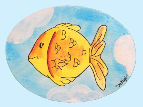 targhetta personalizzabile pesce