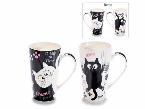 tazza mug con gattini, ceramiche con i gatti, oggettistica con gatto,mug with kittens, cats with ceramics, objects with cat