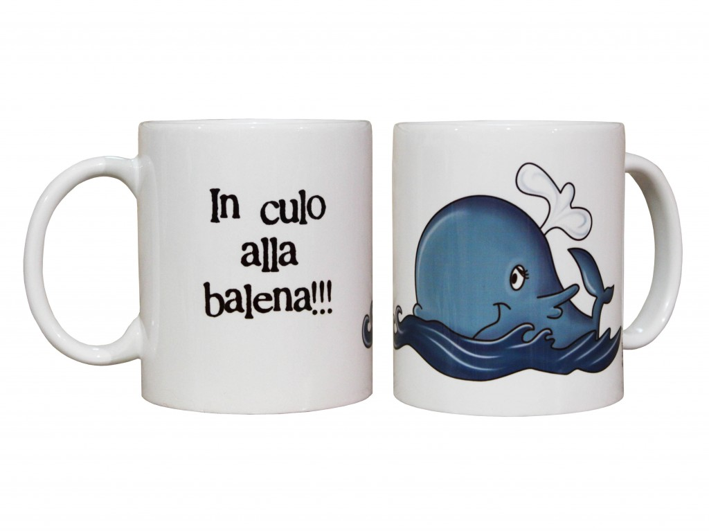 tazza mug per la colazione con balena, tazza con scritte spiritose e frasi simpatiche, tazza personalizzata con nome,creazione dettagli cagliari,cup mug for breakfast with whale cup with writing witty and funny phrases, mug personalized with name, creation details cagliari,