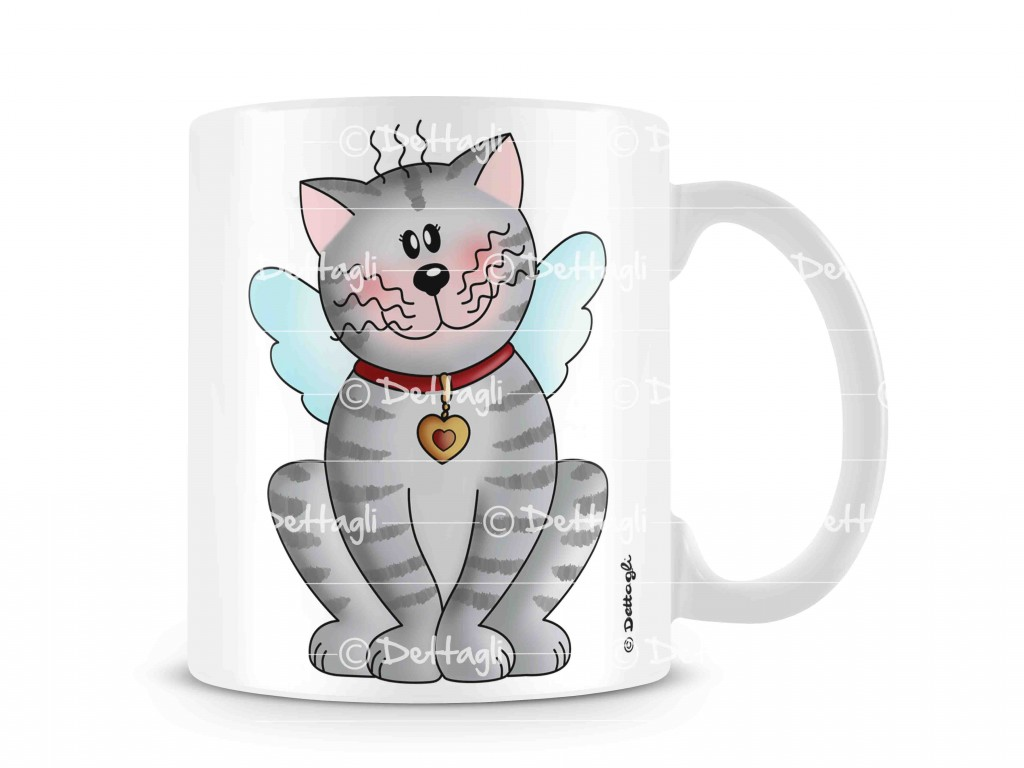 tazza mug con gattini, ceramiche con i gatti, oggettistica con gatto,mug with kittens, cats with ceramics, objects with cat,creazione dettagli cagliari