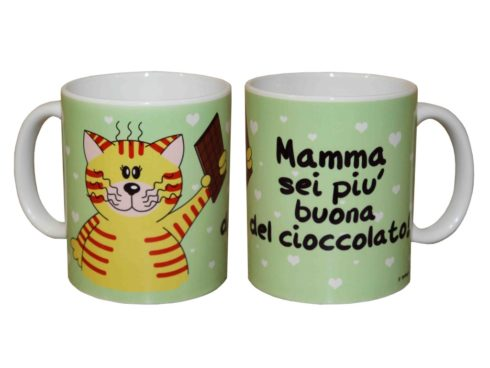 cat cup, best wishes Mum, chocolate, mug gattino , festa della mamma , cioccolato