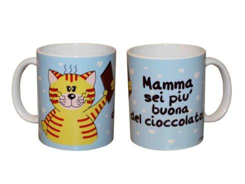 cat cup, best wishes Mum, chocolate, mug gattino , festa della mamma