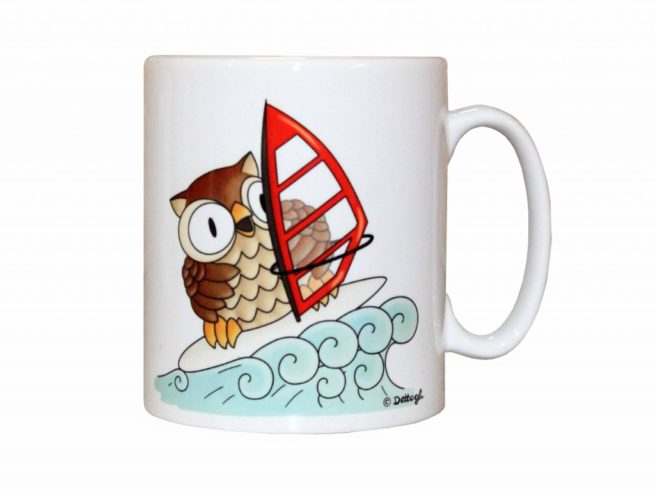 tazza mug con gufo civetta , ceramiche con i gufi , vendita online di oggettistica con gufi civette , creazioni dettagli cagliari ,mug with owl owl, pottery with owls, online sale of objects with owls owls, creations details cagliari