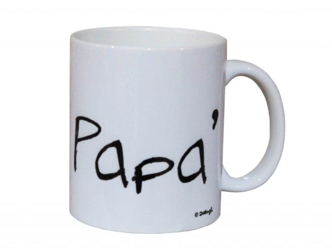 tazza con dedica al papà ,idea regalo per festa del papà, frasi simpatiche per il babbo, creazioni personalizzate , creazioni dettagli cagliari,cup with a dedication to his dad, gift idea for Father's Day, funny phrases for dad, personalized creations, creations details cagliari,