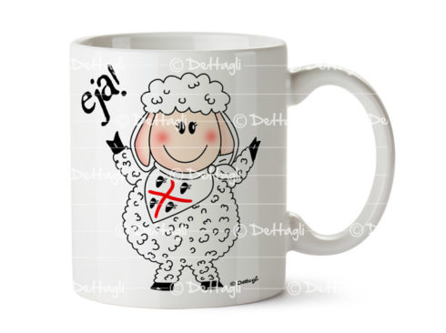 tazza pecora , 4 mori, souvenir della sardegna, creazioni dettagli cagliari , oggettistica con pecore, ceramica con pecore,cup sheep, 4 died, souvenir of Sardinia, Cagliari details creations, objects with sheep, ceramic sheep