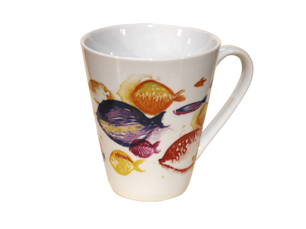 cup colorful fish, tazza da colazione