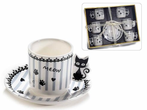 tazzina da caffè gatto ,accessori da cucina con gatti,coffee cup cat, kitchen accessories with cats