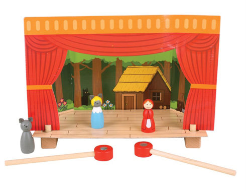 teatrino magnetico, racconta storie e fiabe, regalo per piccoli attori,Magnetic theater, tells stories and fairy tales, gift for child actors, bigjigs toys