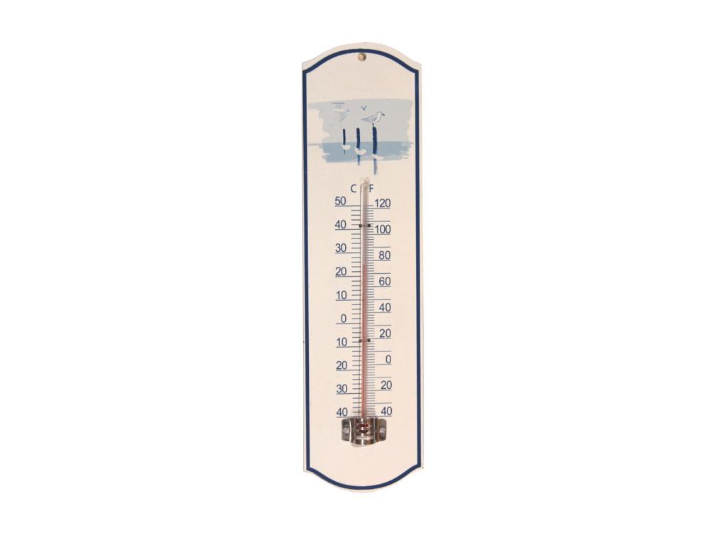 thermometer wall fish seagull, misura temperatura da parete decorazioni da muro per la casa in metallo