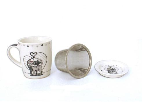 porta infusi e tisane, tazza per tisane,filtro per infusi, ceramiche gatti,door infusions and herbal teas, herbal teas cup, filter infusions, pottery cats