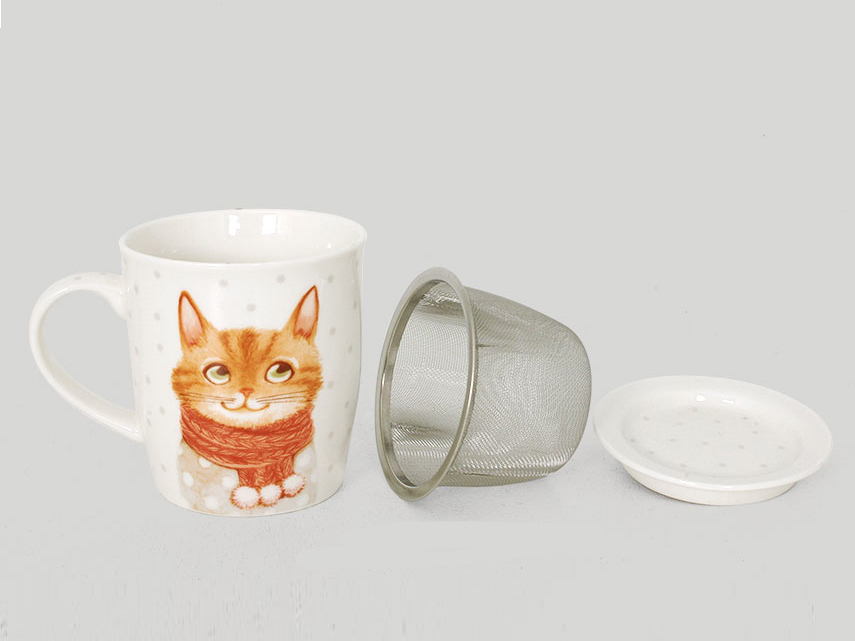 porta infusi e tisane, tazza per tisane,filtro per infusi, ceramiche gatti,door infusions and herbal teas, herbal teas cup, filter infusions, pottery cats