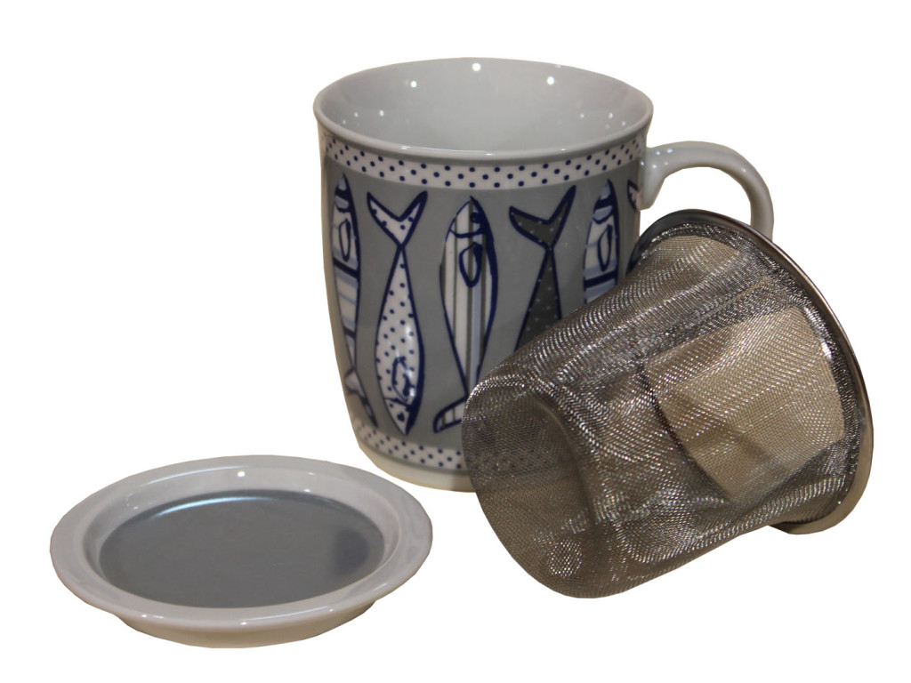 cup for tea, brew, fish, tazza per infuso tisane, sardine acciughe