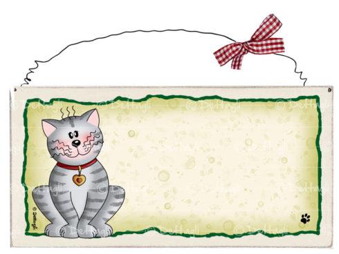 """targhetta artigianale con dedica ai gatti , regalo per amanti dei gatti, vendita online oggeti con gatti , creazioni """"Dettagli"""" Cagliari"""
