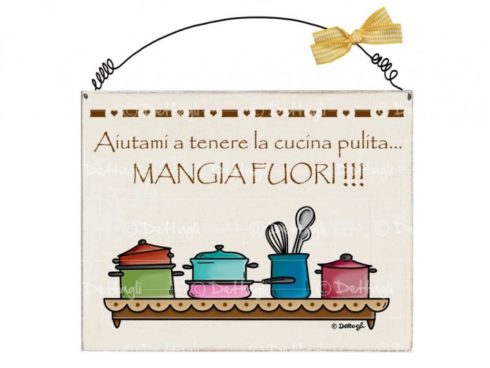 targa con frasi simpatiche e spiritose,plate with funny and witty phrases,dettagli