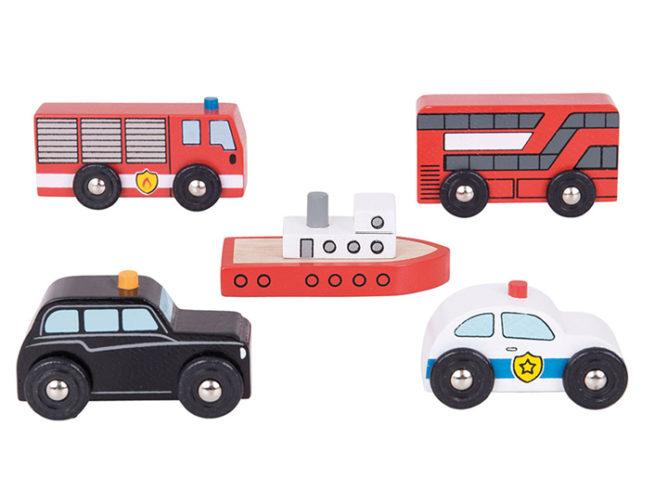 macchina della polizia , dei pompieri , autobus